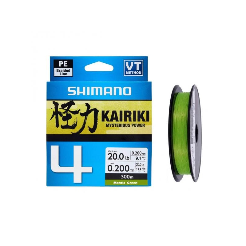 Nöör Shimano Kairiki 4 0.16mm 8.1kg 150m roheline