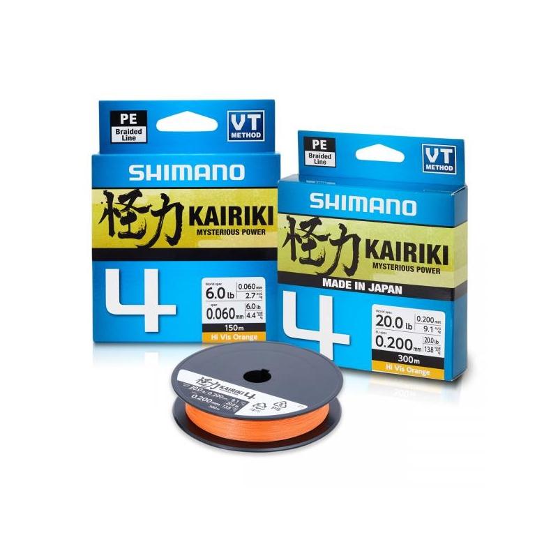 Nöör Shimano Kairiki 4 oranž 0.215mm 16.7kg 150m