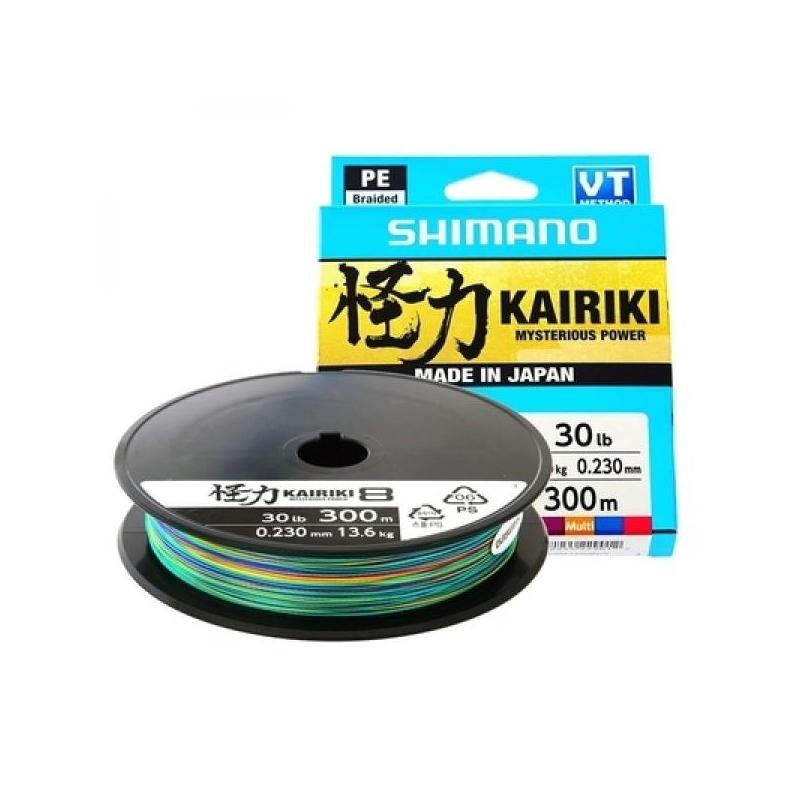 Nöör Shimano Kairiki 8 300m 0.315mm 33.5kg mitmevärviline