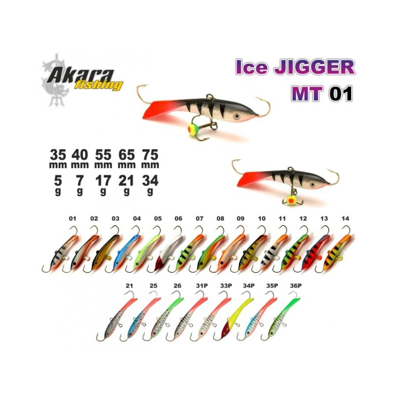 Talilant Ice Jigger PTL10  35mm 6g värv: 3
