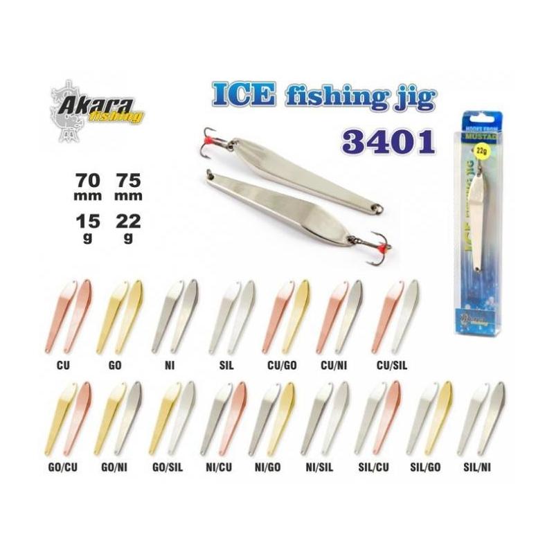 Talilant Ice Jig 3401 70mm 15g värv: Go/Cu