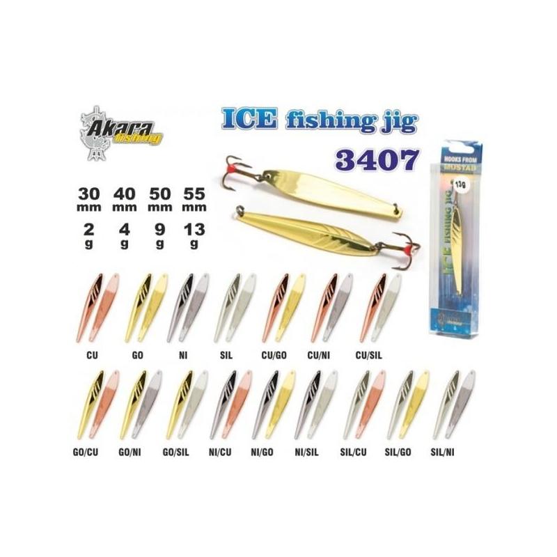 Talilant Ice Jig 3407 30mm 2g värv: Ni/Go