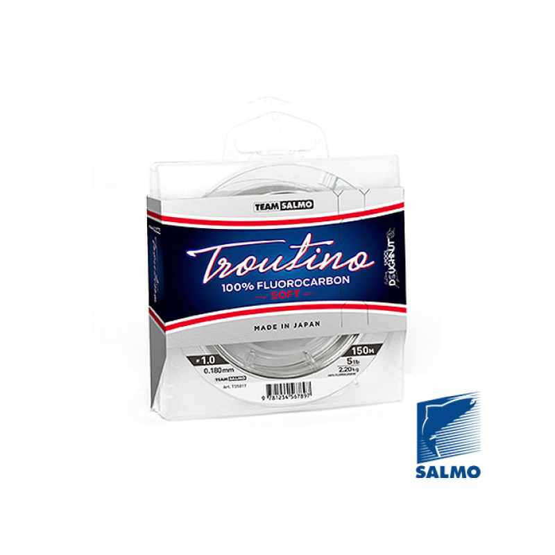 Team Salmo Fluorocarbon Troutino Soft 0.25mm 4.57kg 150mm