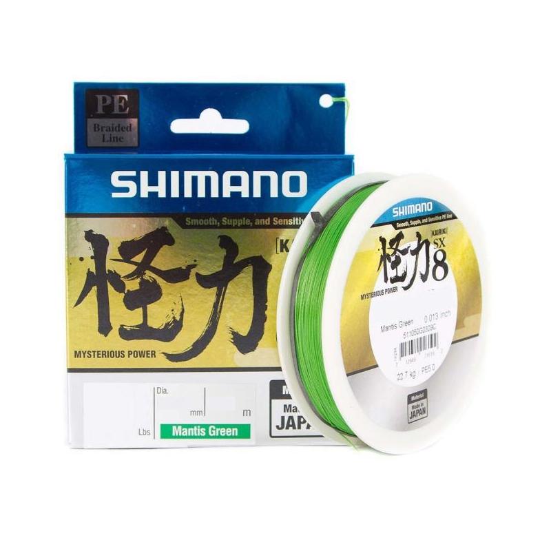Nöör Shimano Kairiki PE 0.12mm 7kg 150m roheline