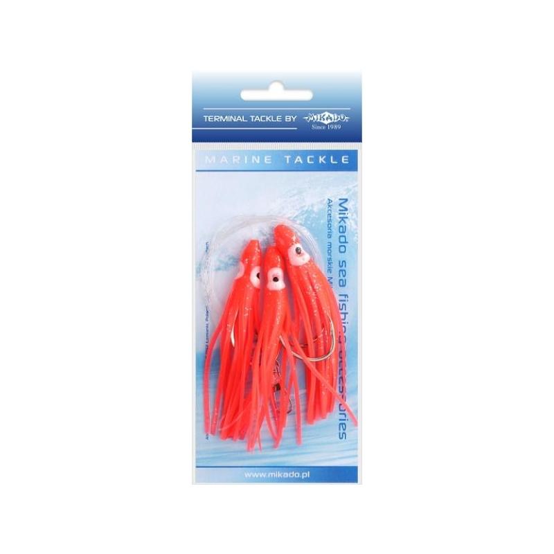 Mererakendus Octopus Rig 8cm 3x6/0 RED