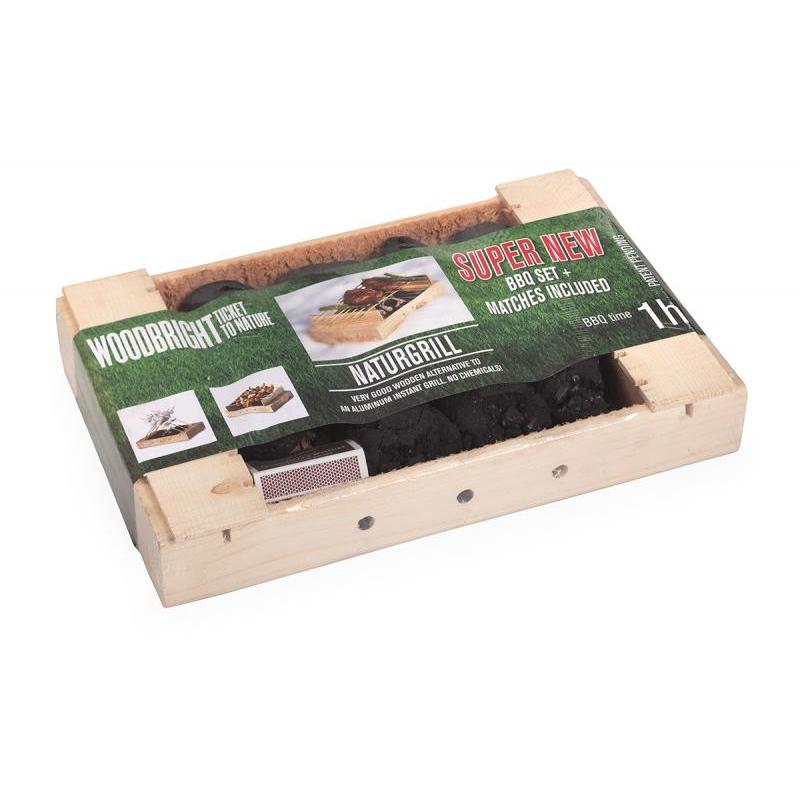 NaturGrill - ühekordne puidust grill ÖKO
