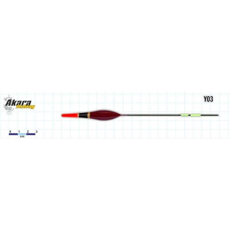 Ujuk Akara balsa Y03 2.5g 18.5cm
