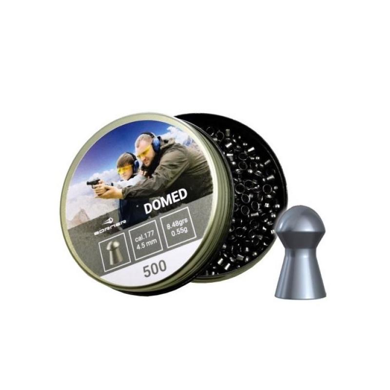 Õhkrelva kuulid BORNER Domed cal 4.5mm 0.55g 500tk