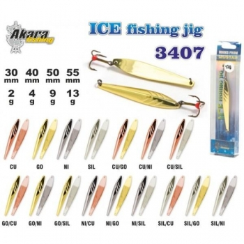 Talilant Ice Jig 3407 50mm 9g värv: CU/NI