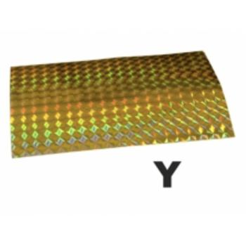 Holograafkleeps Y kollane 8x12cm 1tk