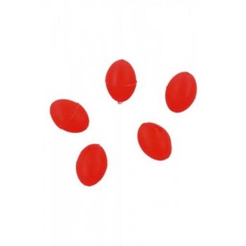 Pärlid Ellipsoid 6x8mm 1.2 Punased 25tk