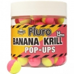 Boilid Carp-Tec Krill ja Banana 15mm Fluro Two Tone Pop Ups 90g