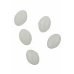 Pärlid Ellipsoid 6x8mm 1.2 Valged 25tk
