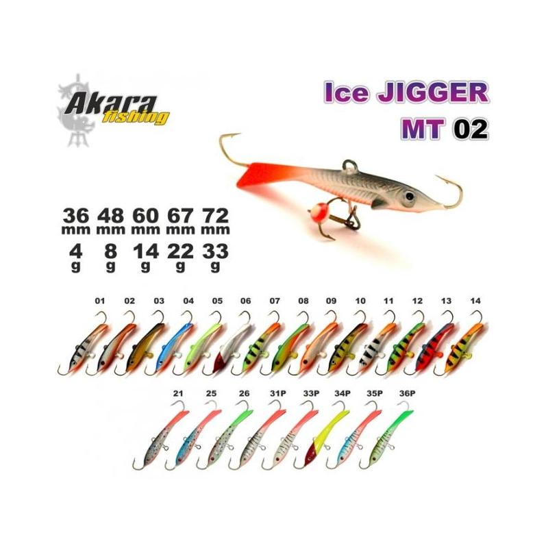 Talilant «Ice Jigger MT» 02 60mm 14g 14