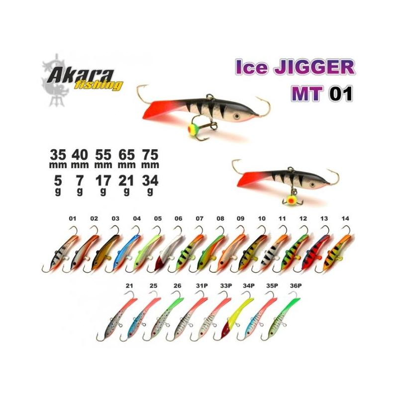 Talilant Ice Jigger 65mm 21g värv: 03