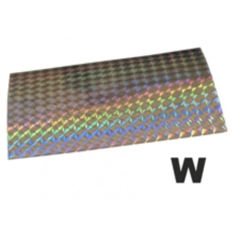Holograafkleeps W hõbe 8x12cm 1tk