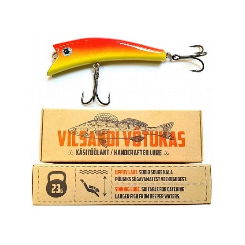 Vilsandi Võtukas VV09 Punane-Kollane 23g 100mm