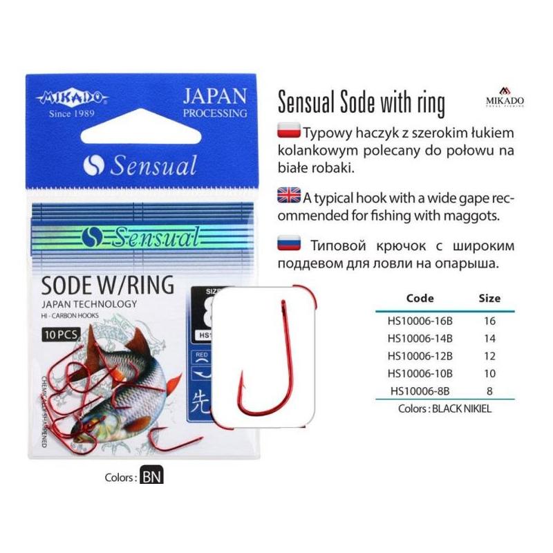Konksud Sensual Sode w/Ring RED #8 10tk