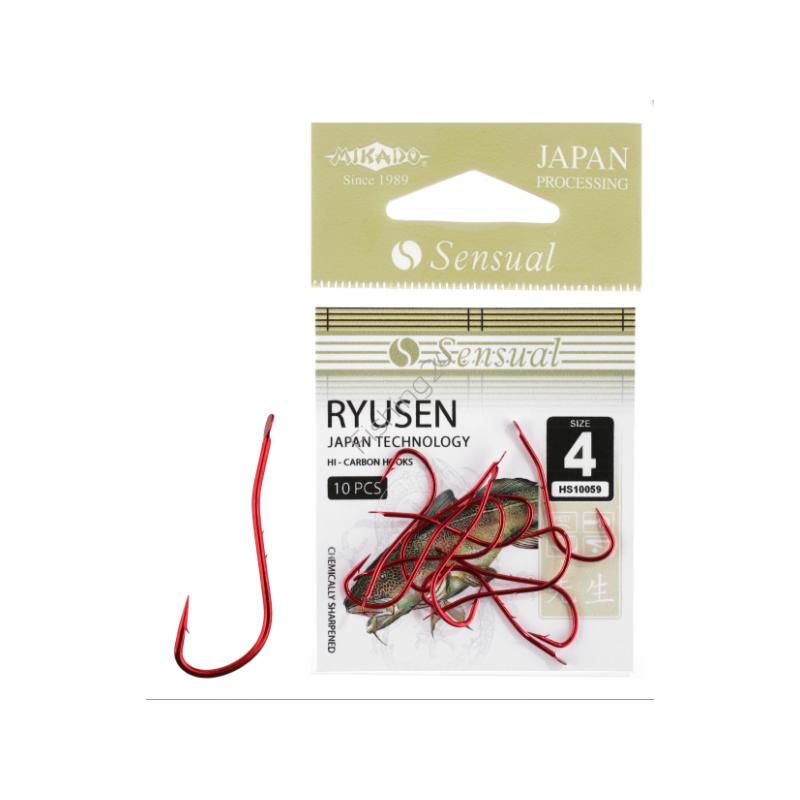 Konksud Sensual Ryusen w/Ring RED #1/0 10tk