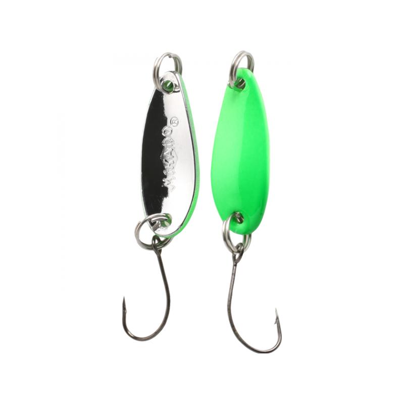 Mini Spoon 24mm 1.5g Green Fluo-Silver
