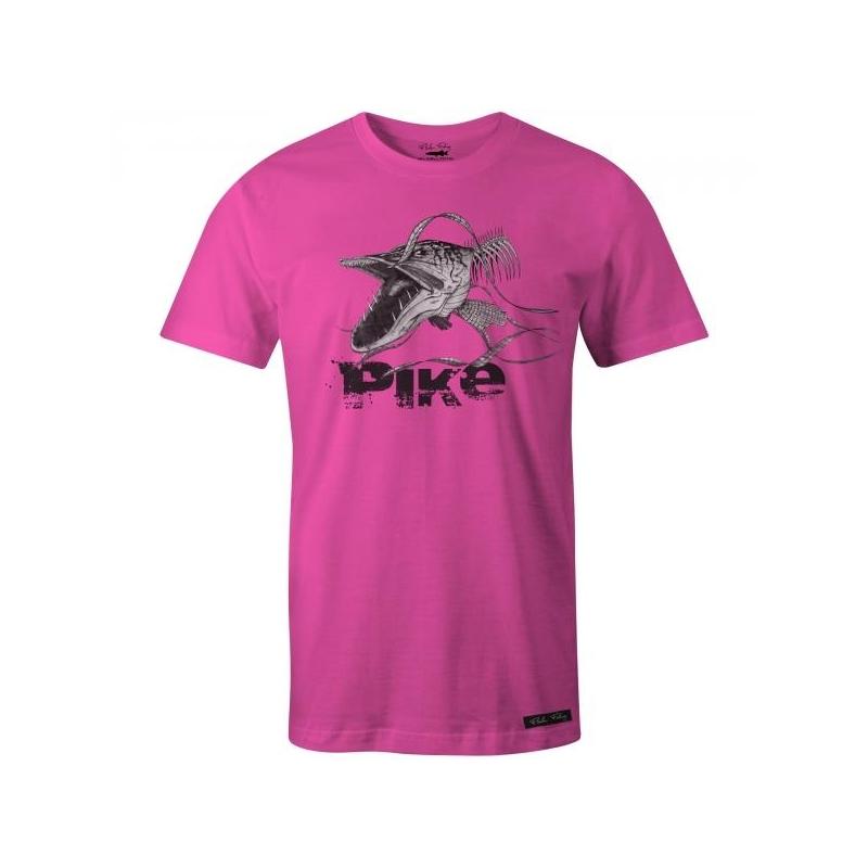 T-särk Angry Skeleton Pike roosa XL