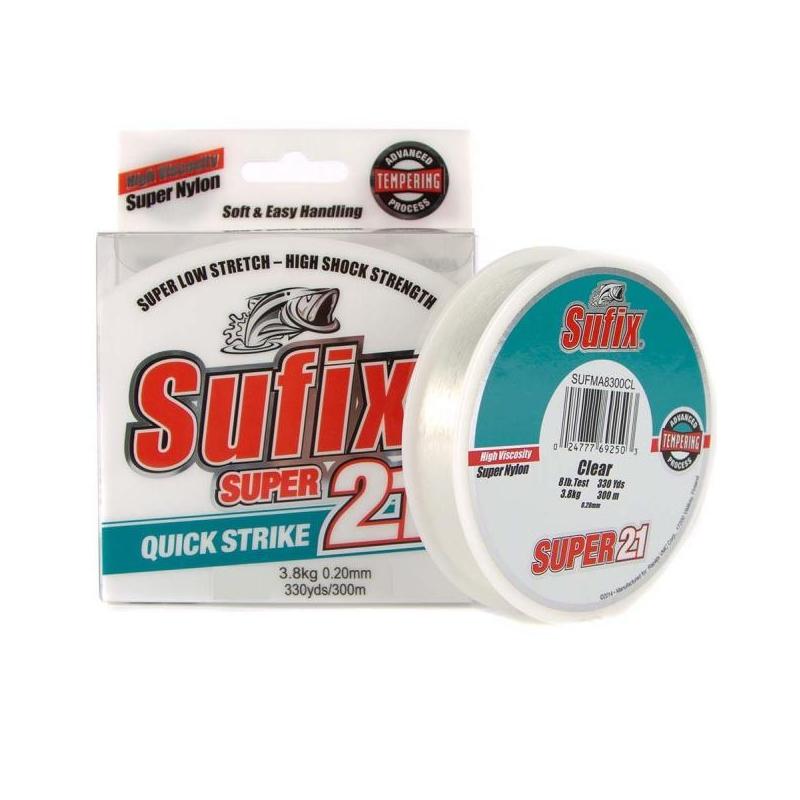 Tamiil Sufix Super 21 Clear 0.30mm 7.7kg 150m