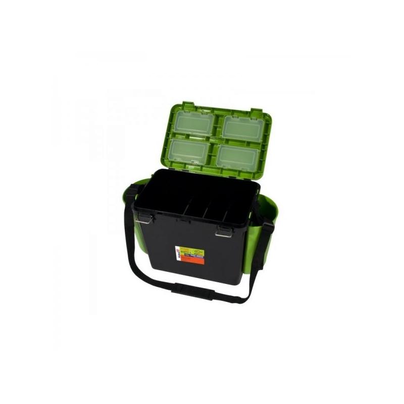 Kalastuskast HELIOS Fishbox 19l OS 50x32x25mm roheline/must max 210kg