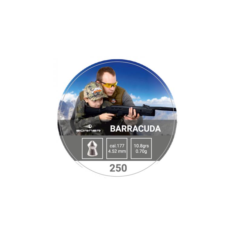 Õhkrelva kuulid BORNER Barracuda cal 4.5mm 0.7g 500tk