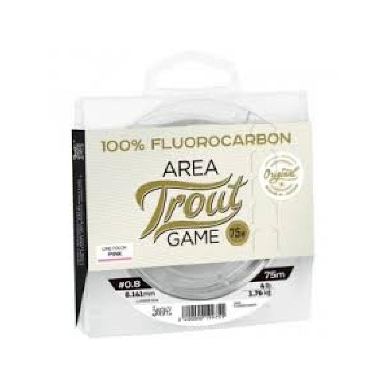Lucky John Fluorocarbon Area Trout Game 0.201mm 2.8kg 75mm roosa