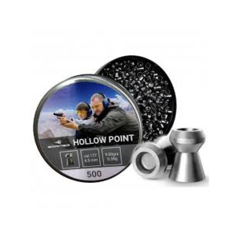 Õhkrelva kuulid BORNER Hollow Point cal 4.5mm 0.58g 250tk