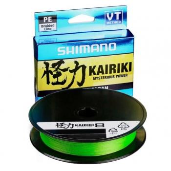 Nöör Shimano Kairiki PE VT 0.28mm 29.3kg 150m roheline