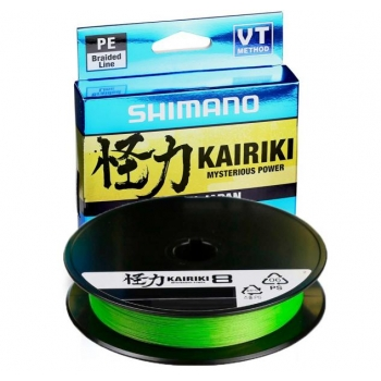 Nöör Shimano Kairiki PE VT 0.35mm 39.5kg 150m roheline