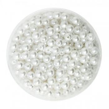 Pärlid 6mm valged 50tk