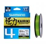 Nöör Shimano Kairiki 4 0.10mm 6.8kg 150m roheline