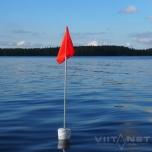 Märklipp MERI üldpikkus 1.87m veep. lipuni 1m lipp 20x30cm koonusujukiga