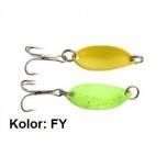 Trout Campione Mini 22mm 1.4g Fluro Green/Yellow