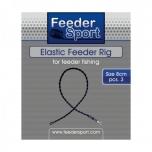 FeederSport Elastic Feeder Rig 8cm 3tk