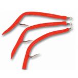 Piprad Rubber Mac #9/0 Red 5tk