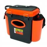 Kalastuskast HELIOS Fishbox 10l 432x230x404mm oranž/must max 120kg
