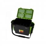 Kalastuskast HELIOS Fishbox 19l kõrge 500x320x395mm roheline/must max 130kg